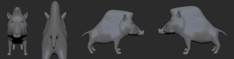 Boar Sculpt